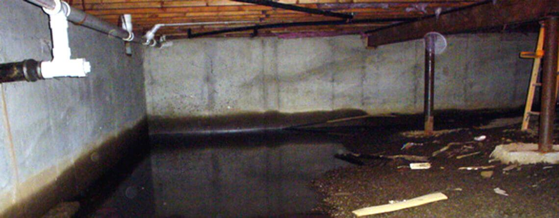 Wet Crawl Space Waterproofing Company