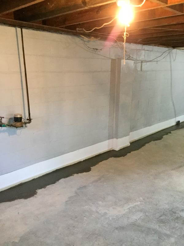 Basement Wall Waterproofed & Sealed With Epoxy | SouthernDry of Alabama