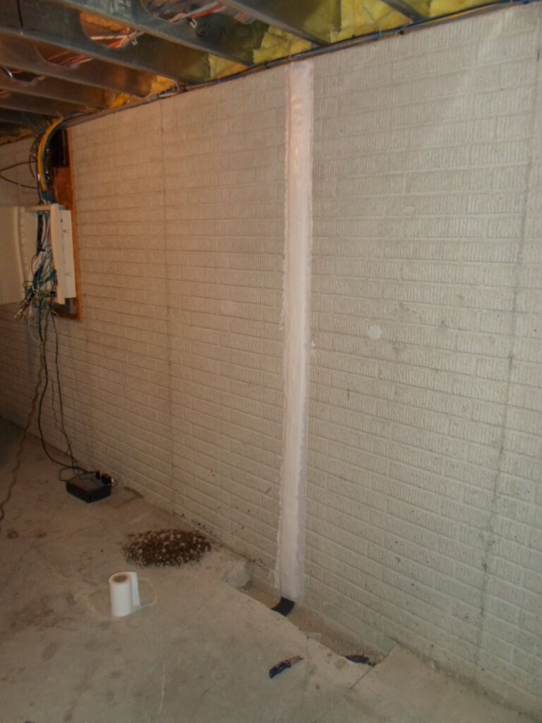 basement crack repair and house waterproofing
