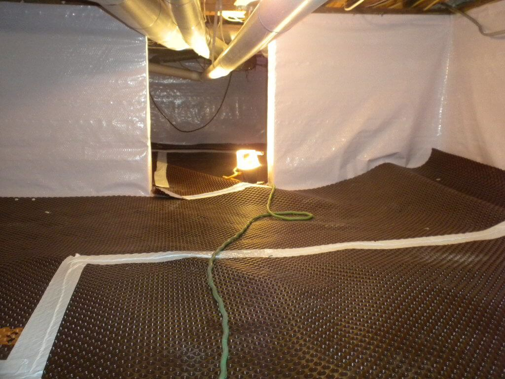 crawlspace drainage matting encapsulation