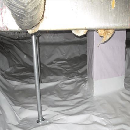 Crawl Space Stabilization PowerPost Installation