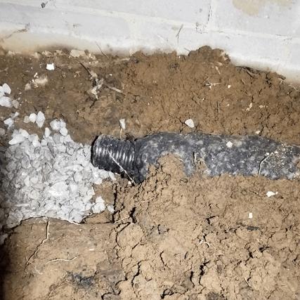 EZ flow drainage system installation