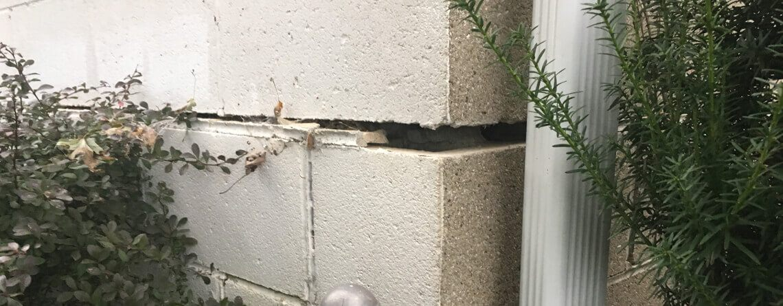Cracked Blocked Foundation   Sinking Wall   Piering Installer   SoutherDry Alabama