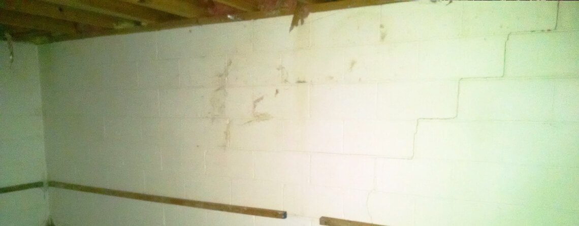 Basement Wall Stair Step Crack Repair Company | SouthernDry of Alabama