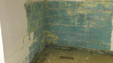 Before Leaning Wall Repair | Bowing Basement | Birmingham Alabama Foundation Repair