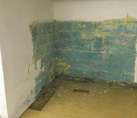 Before Leaning Wall Repair | Bowing Basement | Birmingham Alabama Foundation Repair
