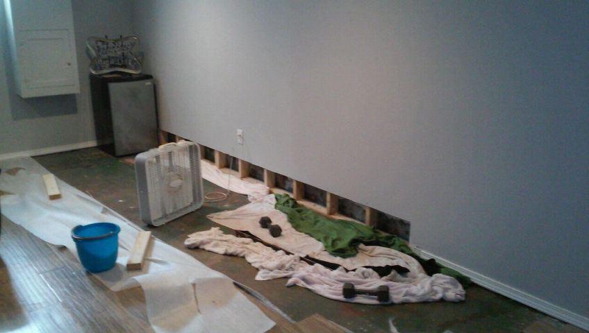 Before Basement Waterproofing & Sump Pump Installation | Riverside Alabama