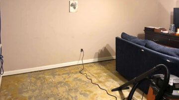 Before basement waterproofing | Birmingham, AL 35242 | SouthernDry