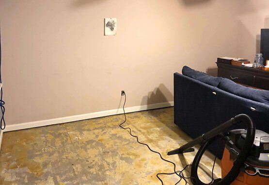 Before basement waterproofing | Birmingham, AL 35242 | SouthernDry